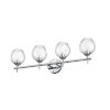 This item: Abii Polished Chrome with Clear Four-Light Bath Vanity