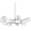 This item: Abii Polished Chrome with Clear 12-Light Pendant