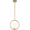 This item: Adrienna Aged Brass with White One-Light Pendant