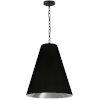 This item: Anaya Matte Black and Silver One-Light Medium Pendant