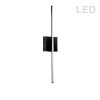 This item: Array Matte Black 25-Inch Vertical LED Wall Sconce