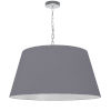 This item: Brynn Gray with Polished Chrome 26-Inch One-Light Pendant