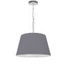 This item: Brynn Gray with Polished Chrome 14-Inch One-Light Pendant