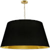 This item: Brynn Black with Aged Brass 32-Inch One-Light Pendant