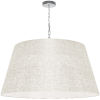 This item: Brynn Cream with Polished Chrome 32-Inch One-Light Pendant