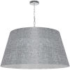 This item: Brynn Gray with Polished Chrome 32-Inch One-Light Pendant with Clear Shade
