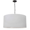 This item: Braxton Black and White One-Light Large Pendant