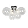 This item: Comet Polished Chrome with Clear Three-Light Flush Mount