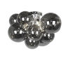 This item: Comet Polished Chrome with Smoke Three-Light Flush Mount