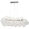 This item: Comet Polished Chrome with Clear 10-Light Pendant