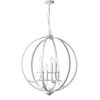 This item: Cosmopolitan Matte White with Clear 24-Inch Six-Light Chandelier