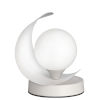 This item: Crescent Matte White One-Light Table Lamp