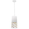 This item: Cutouts White with Gold One-Light Mini Pendant