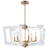 This item: Clearwater Aged Brass with Clear Six-Light Chandelier