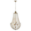 This item: Dawson Pearl White with Aged Brass Six-Light Chandelier
