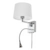 This item: Polished Chrome with White Nine-Inch LED Wall Sconce