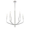 This item: Eleanor Polished Chrome Six-Light Chandelier