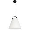 This item: Emperor Matte Black One-Light Pendant with Off White Shade