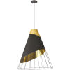 This item: Farthingale Black Gold 16-Inch One-Light Pendant