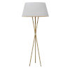 This item: Gabriela Aged Brass with White One-Light Floor Lamp