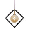 This item: Glasglow Matte Black with Vintage Bronze One-Light Pendant