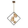 This item: Glasglow Matte Black with Vintage Bronze Five-Light Pendant