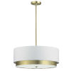This item: Larkin White with Aged Brass Four-Light Pendant