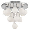 This item: Megallan Polished Chrome with Opal White 14-Light Flush Mount