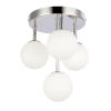 This item: Megallan Polished Chrome with Opal White Four-Light Flush Mount