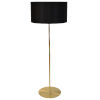 This item: Maine Black with Aged Brass One-Light Drum Floor Lamp