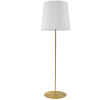 This item: Aged Brass and White One-Light Minimalist Floor Lamp