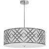 This item: Mona White with Polished Chrome 24-Inch Four-Light Pendant
