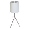 This item: Tripod Satin Chrome 10-Inch One-Light Table Lamp with White Silver Shade