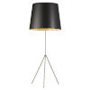 This item: Tripod Satin Chrome with Black Gold One-Light Floor Lamp