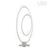 This item: Phoenix Silver LED Table Lamp