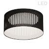 This item: Black with White LED Flush Mount