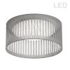 This item: Gray with White LED Flush Mount