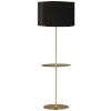 This item: Tablero Aged Brass with Black Gold One-Light Floor Lamp with Round Shelf