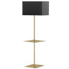 This item: Tablero Aged Brass with Black Gold One-Light Floor Lamp with Square Shelf