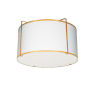 This item: Trapezoid White with Gold Two-Light Flush Mount