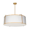 This item: Trapezoid White with Gold Four-Light Pendant