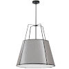 This item: Trapezoid Black with Grey Three-Light Pendant