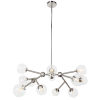 This item: Tanglewood Satin Chrome with White 12-Light Chandelier