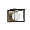 This item: Black Aged Brass with White One-Light Bath Vanity