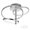 This item: Valarie Polished Chrome with White Three-Light LED Semi-Flush Mount