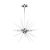 This item: Vela Polished Chrome with Clear Six-Light Pendant