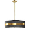 This item: Willshire Black with Aged Brass One-Light Pendant