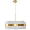 This item: Willshire White with Aged Brass One-Light Pendant