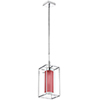 This item: Cubo Chrome 7-Inch One-Light Mini Pendant with Red Shade