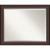 This item: Harvard Walnut 33W X 27H-Inch Bathroom Vanity Wall Mirror